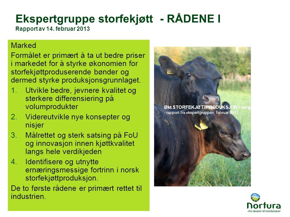 Ekspertgruppe storfekjøtt - RÅDENE I Rapport av 14.