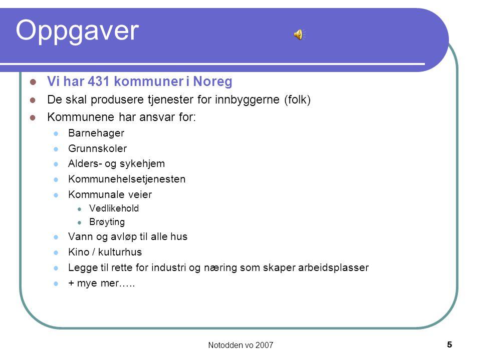 Notodden vo 20076 Notodden kommune – vår kommune Notodden kommune ligger i Telemark fylke.