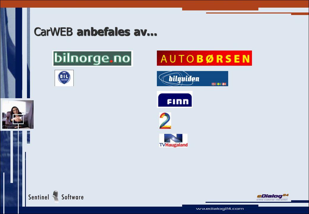 CarWEB anbefales av...