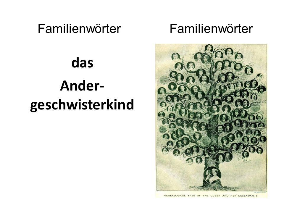 das Ander- geschwisterkind Familienwörter