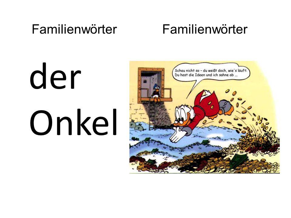 der Onkel Familienwörter