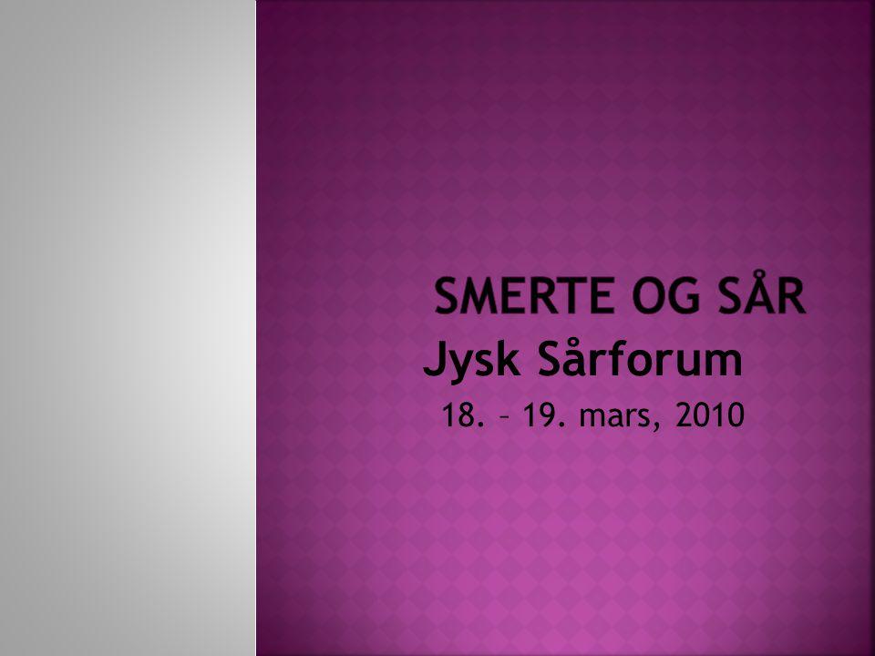 Jysk Sårforum 18. – 19. mars, 2010