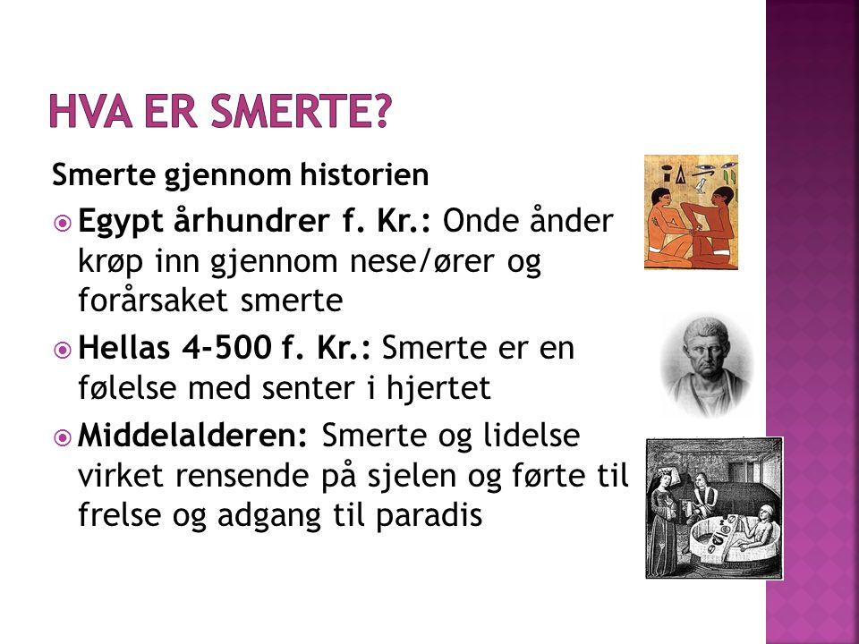 Smerte gjennom historien  Egypt århundrer f.