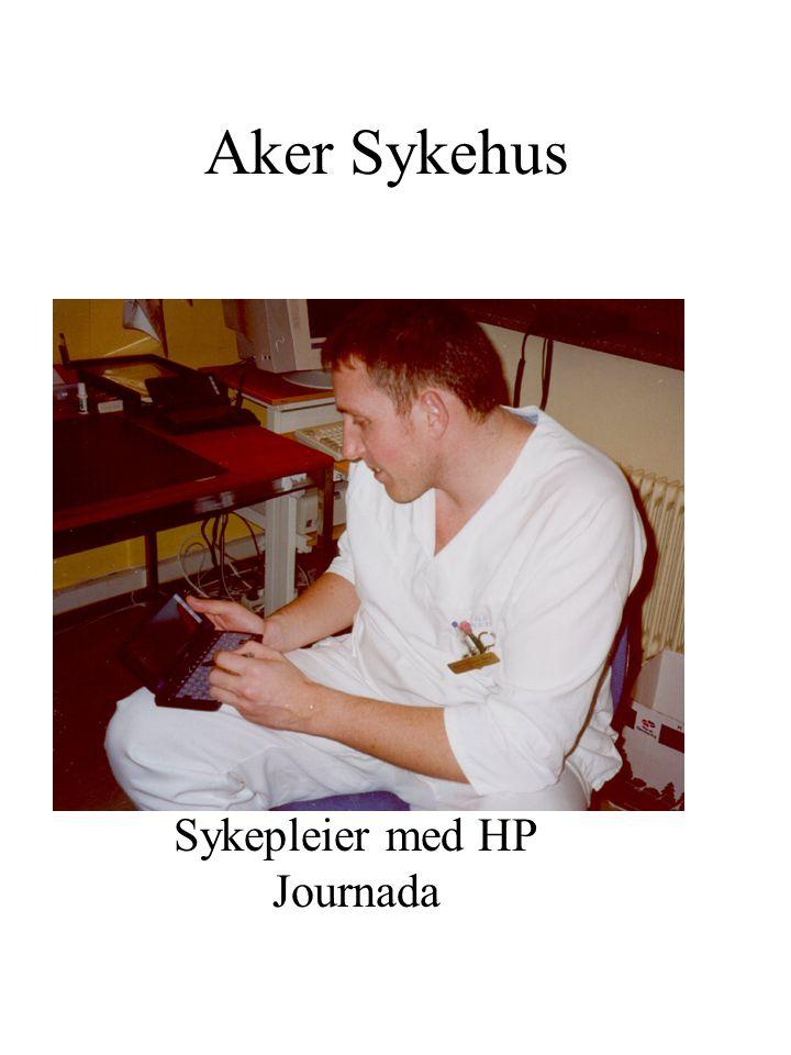 Aker Sykehus Sykepleier med HP Journada
