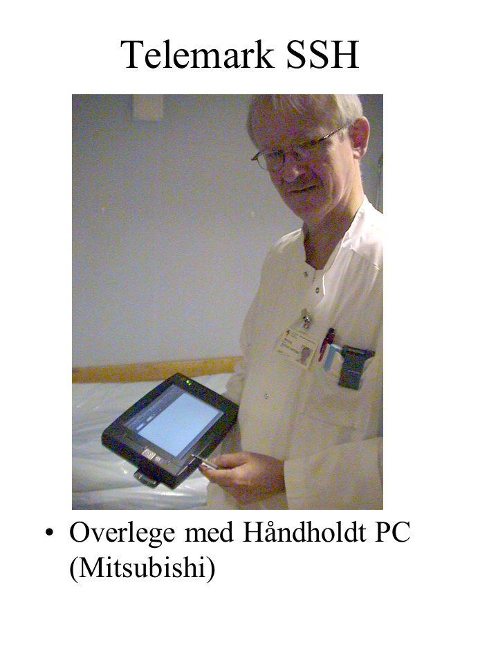 Telemark SSH Overlege med Håndholdt PC (Mitsubishi)