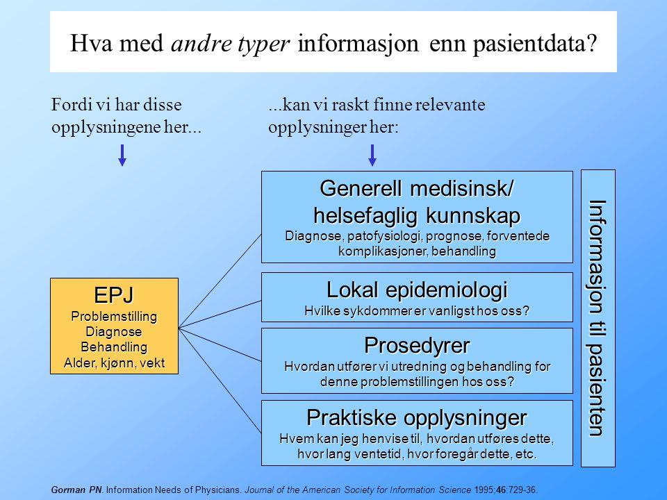 """Forskjellen mellom PAS og EPJ PAS –Pasientadministrativt System"""" –Administrative aspekter av pasientenes opphold på sykehus Pasientens identitet Innle"""
