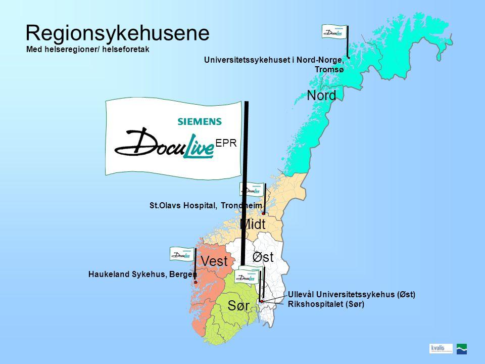 Elektroniske pasientjournalsystemer i norske somatiske sykehus DocuLive EPR DIPS Infomedix