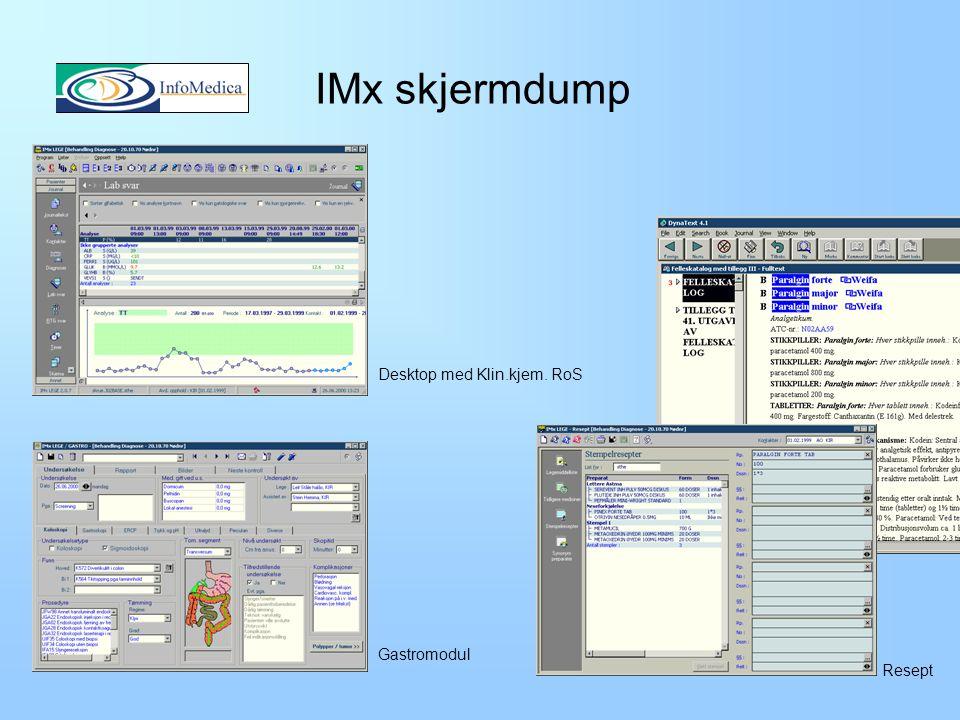 Infomedix Historikk –Utviklet av EDB Infomedica siden 1993.
