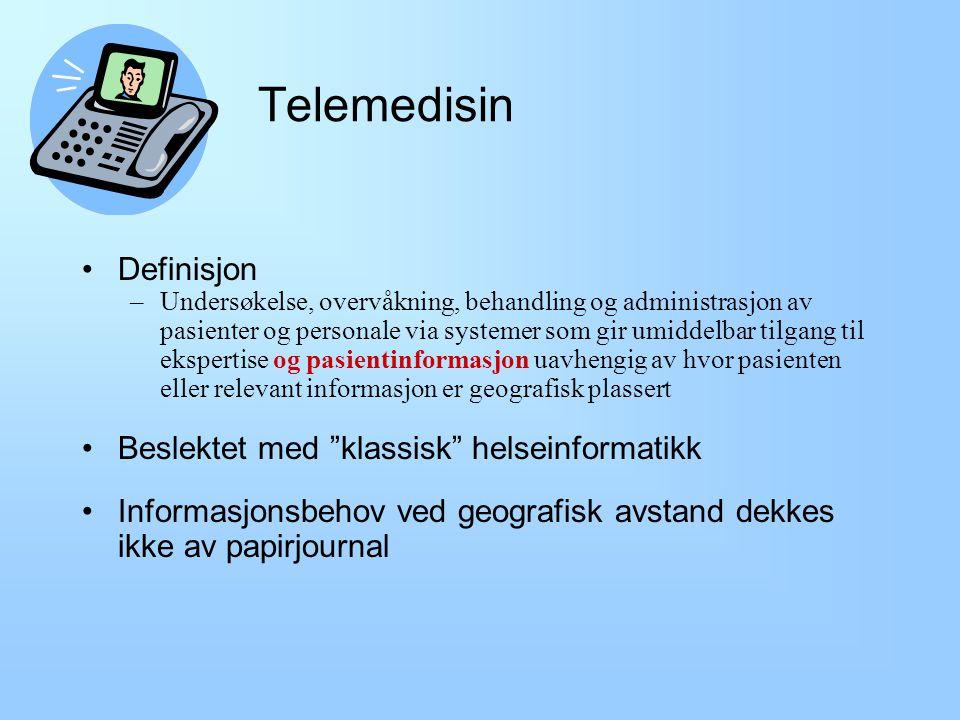 Nettsteder verdt å merke seg NEL - Norsk Elektronisk Legehåndbok (www.nhi.no) –Oppdatert medisinsk kunnskap i elektronisk form, prosedyrer og pasientinformasjon.