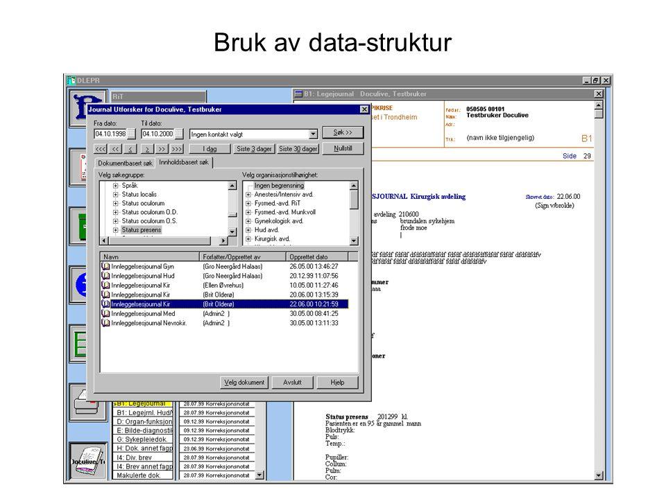Bruk av data-struktur