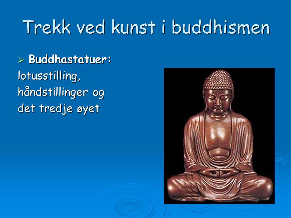 Trekk ved kunst i buddhismen  Buddhastatuer: lotusstilling, håndstillinger og det tredje øyet