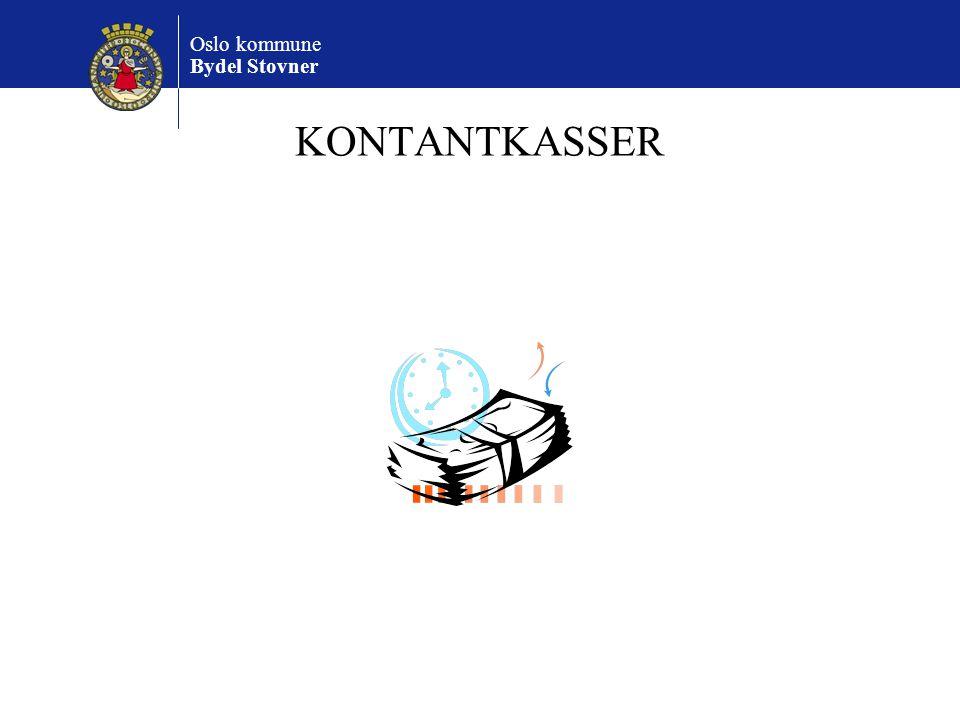 Oslo kommune Bydel Stovner KONTANTKASSER