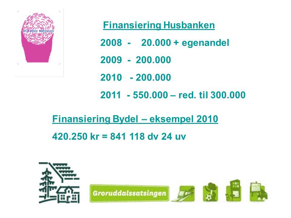 Finansiering Husbanken 2008 - 20.000 + egenandel 2009 - 200.000 2010 - 200.000 2011 - 550.000 – red. til 300.000 Finansiering Bydel – eksempel 2010 42