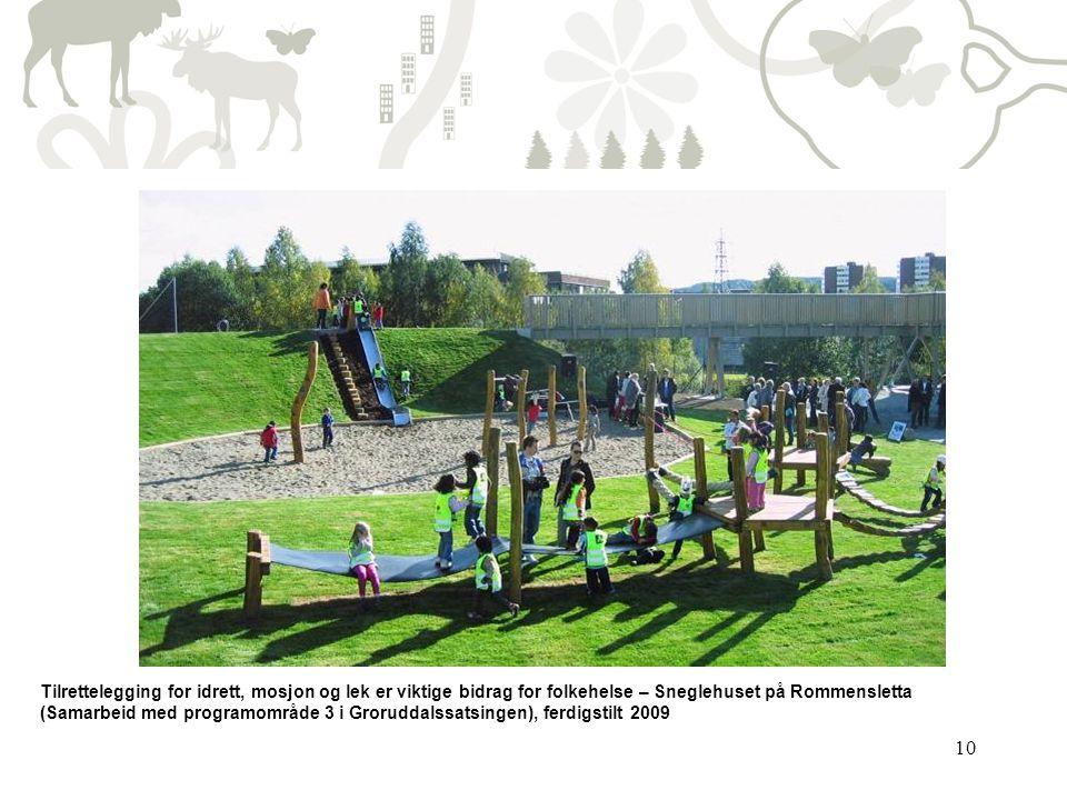 10 Tilrettelegging for idrett, mosjon og lek er viktige bidrag for folkehelse – Sneglehuset på Rommensletta (Samarbeid med programområde 3 i Groruddal