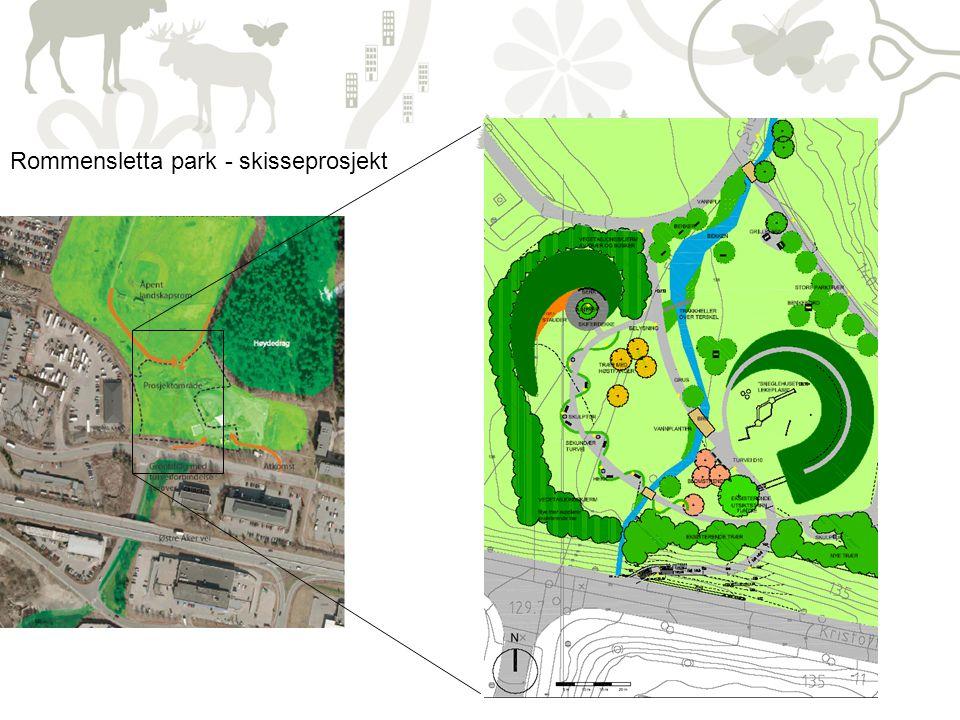 12 Rommensletta park - skisseprosjekt