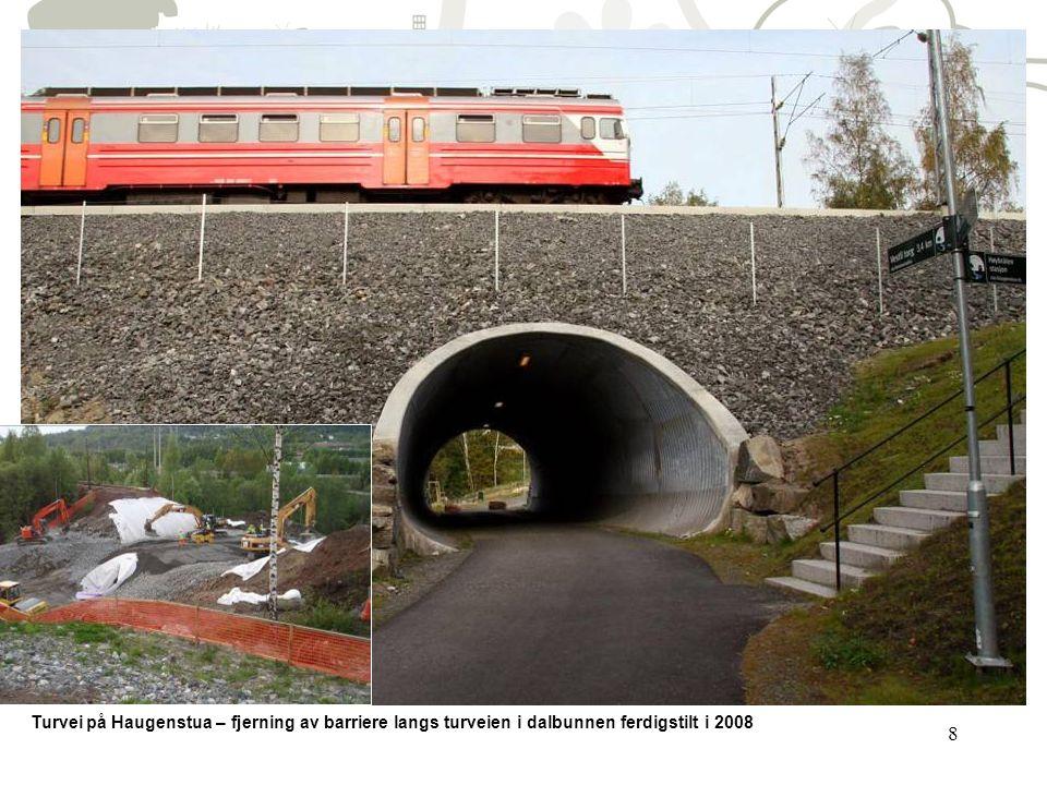 8 Turvei på Haugenstua – fjerning av barriere langs turveien i dalbunnen ferdigstilt i 2008