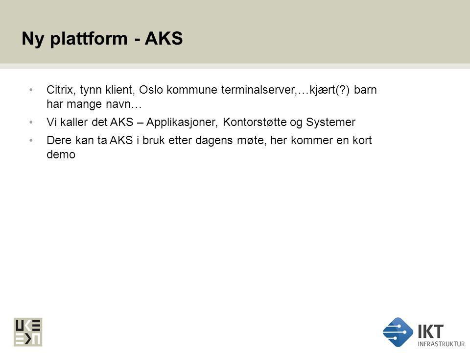 Strekk & tøy Oslo kommune Utviklings- og kompetanseetaten IKT Infrastruktur SIKKERHET SERVERLØSNINGER KLIENTLØSNINGER
