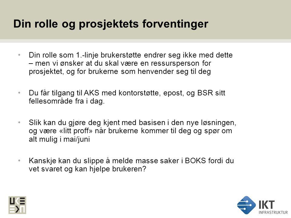 Informasjons- og opplæringsmateriell Prosjektet legger ut oppdatert informasjon, brukerveiledninger og tips på UKEs intranettsider: http://utviklings-og-kompetanseetaten.oslo.kommune.no/ikt/ikt_infrastruktur/