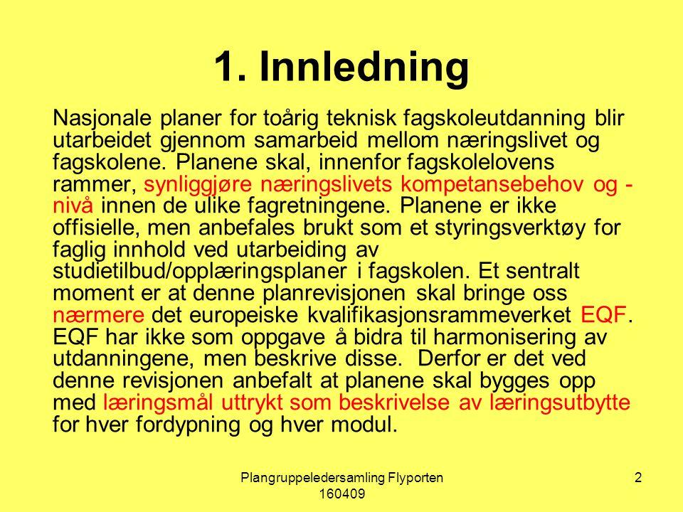 Plangruppeledersamling Flyporten 160409 23 Styringsgruppen for planarbeidet består av: Ivar Lien, leder av NUTF, Gunnar Visnes, nestleder av NUTF og Bård Inge Thun, nasjonal koordinator.