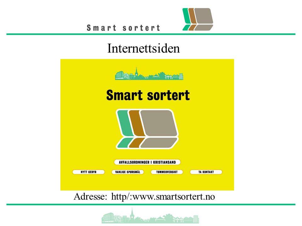 Internettsiden Adresse: http/:www.smartsortert.no