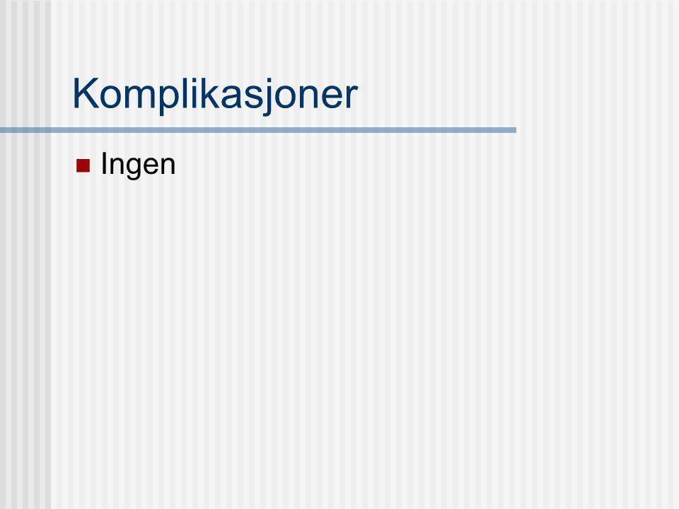 Fullstendig undersøkelse Samtlige tarmsegmenter fremstilt Ikke optimal i cøcum i noen tilfeller Påkrevet med scan både buk-og ryggleie Colonoscopi: Minst 10 % når ikke proksimale colonavsnitt/cøcum