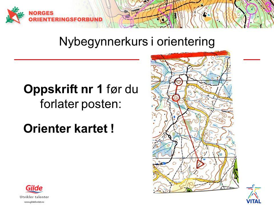 Oppskrift nr 1 før du forlater posten: Orienter kartet ! Nybegynnerkurs i orientering