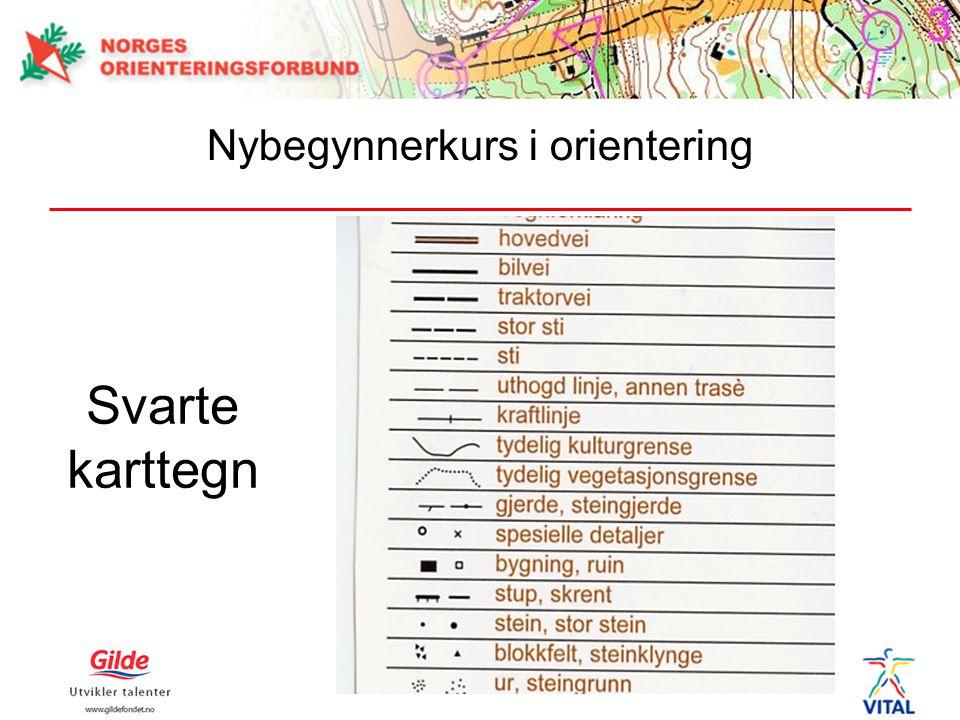 Svarte karttegn Nybegynnerkurs i orientering