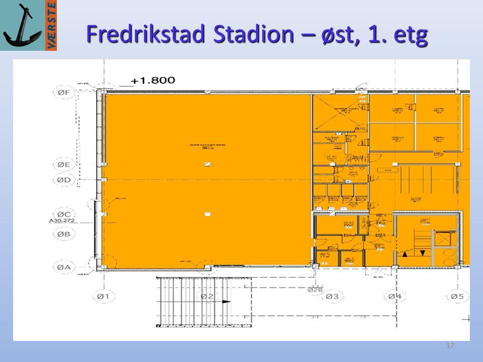 17 Fredrikstad Stadion – øst, 1. etg 1. etasje - rålokaler