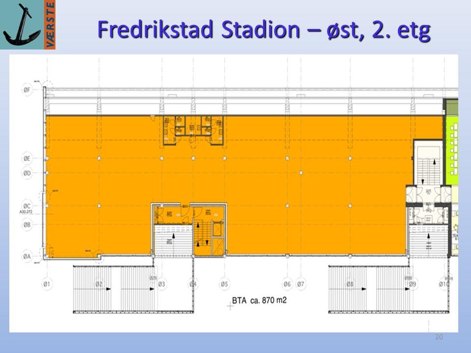 20 Fredrikstad Stadion – øst, 2. etg
