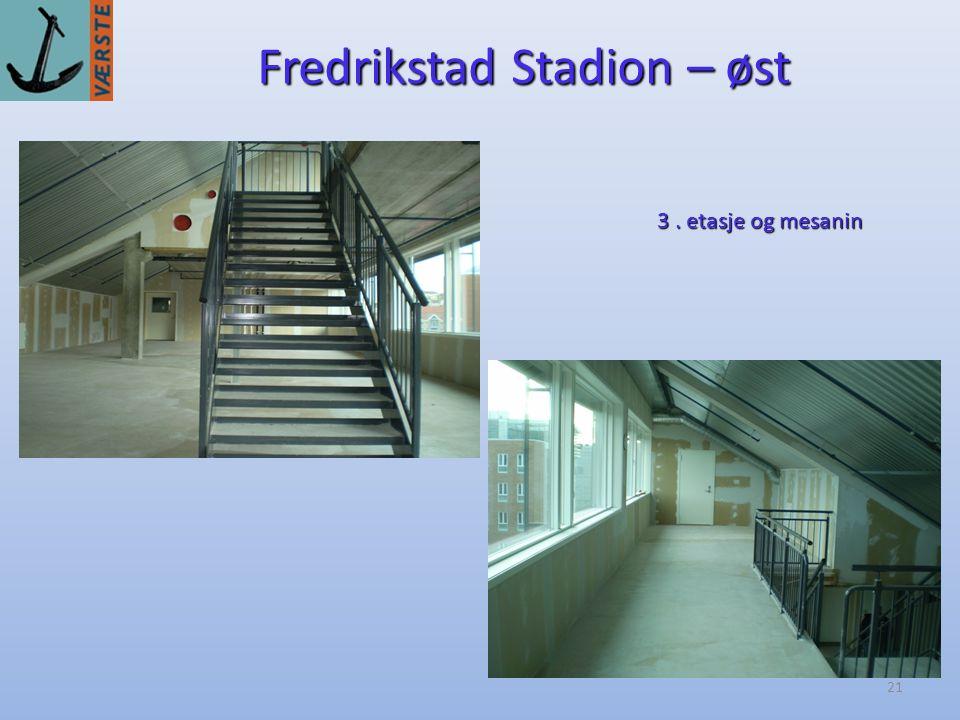 21 Fredrikstad Stadion – øst 3. etasje og mesanin