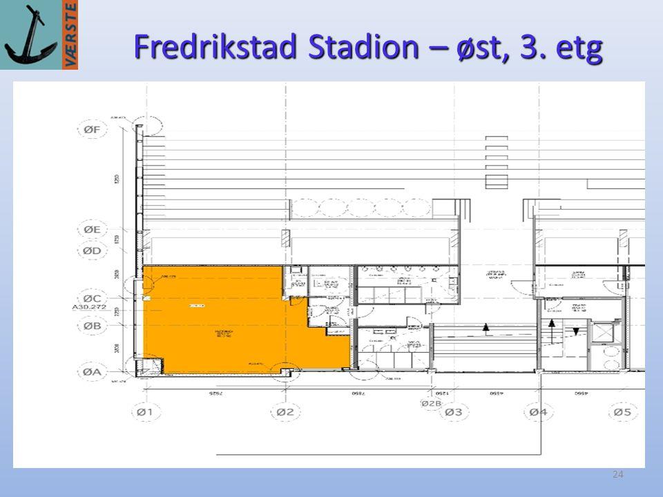 24 Fredrikstad Stadion – øst, 3. etg