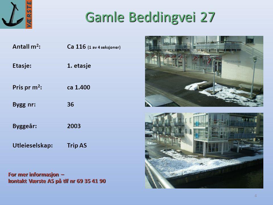 4 Antall m 2 :Ca 116 (1 av 4 seksjoner) Byggeår:2003 Etasje:1.