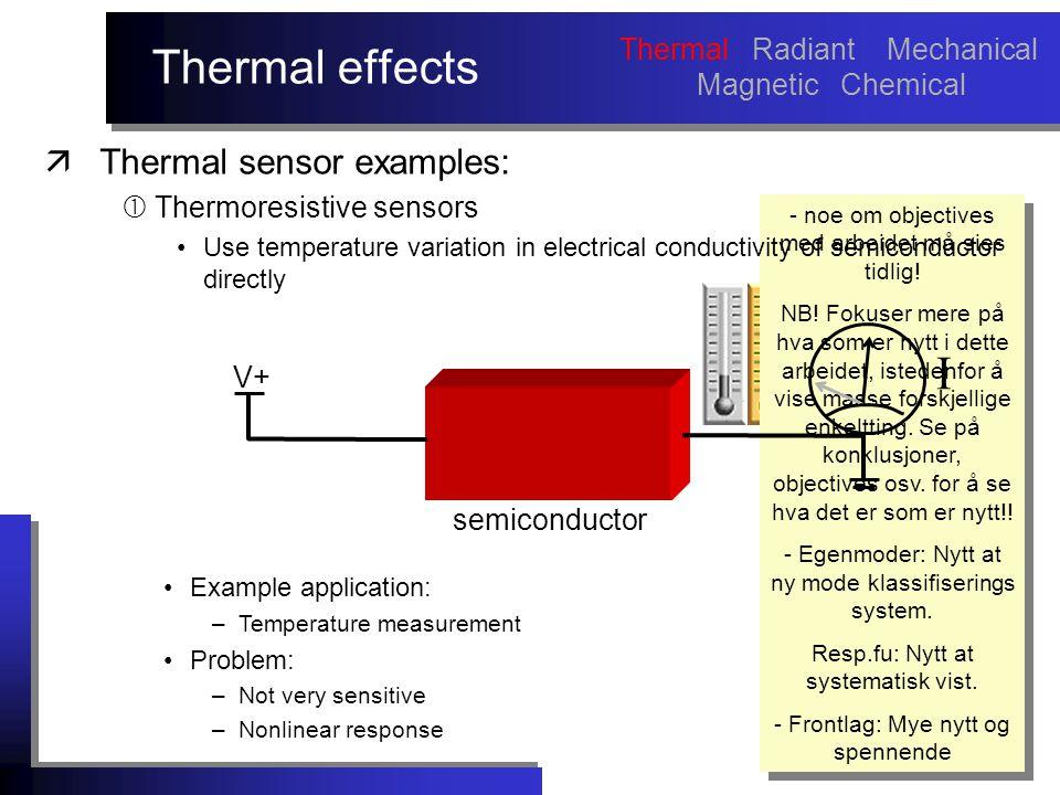Thermal effects - noe om objectives med arbeidet må sies tidlig.