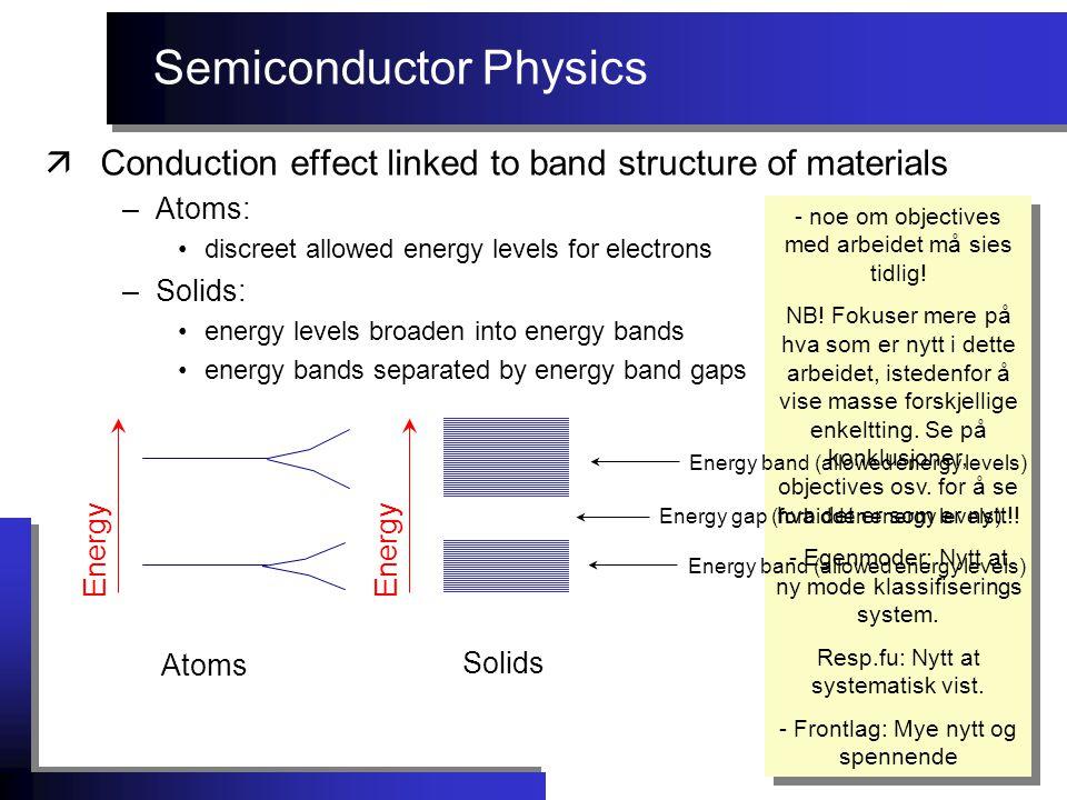 n-type semiconductor Magnetic effects äMagnetic sensor examples:  Hall effect sensor Use Hall effect to measure magnetic field: - noe om objectives med arbeidet må sies tidlig.