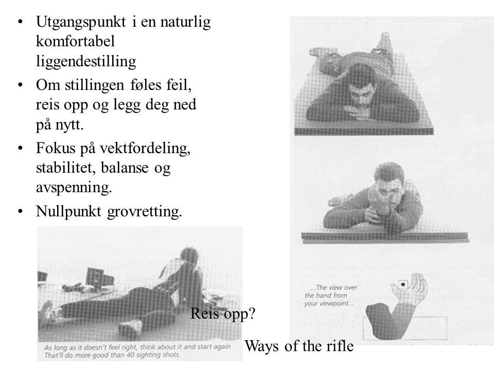 Utgangspunkt i en naturlig komfortabel liggendestilling Om stillingen føles feil, reis opp og legg deg ned på nytt.