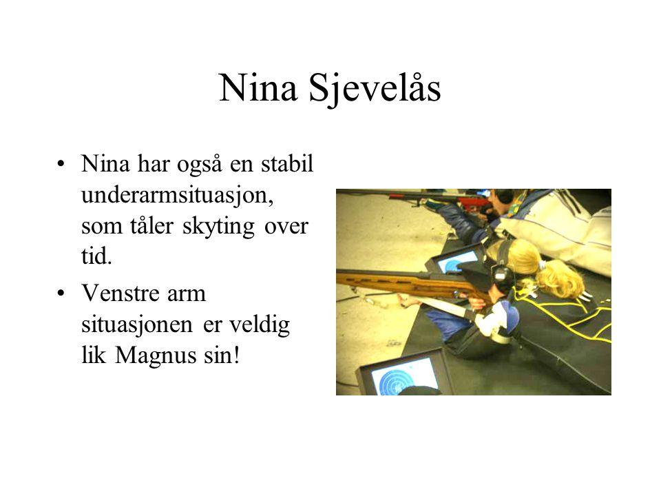 Nina Sjevelås Nina har også en stabil underarmsituasjon, som tåler skyting over tid.