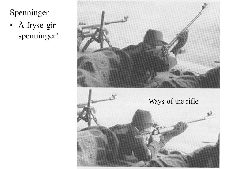 Spenninger Å fryse gir spenninger! Ways of the rifle