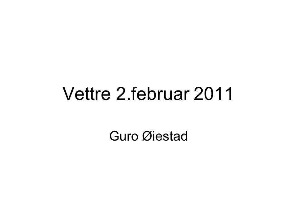 Vettre 2.februar 2011 Guro Øiestad
