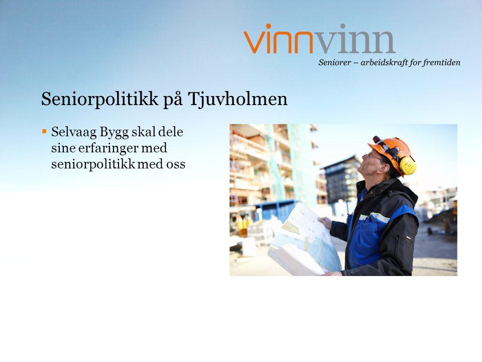 Seniorpolitikk på Tjuvholmen  Selvaag Bygg skal dele sine erfaringer med seniorpolitikk med oss