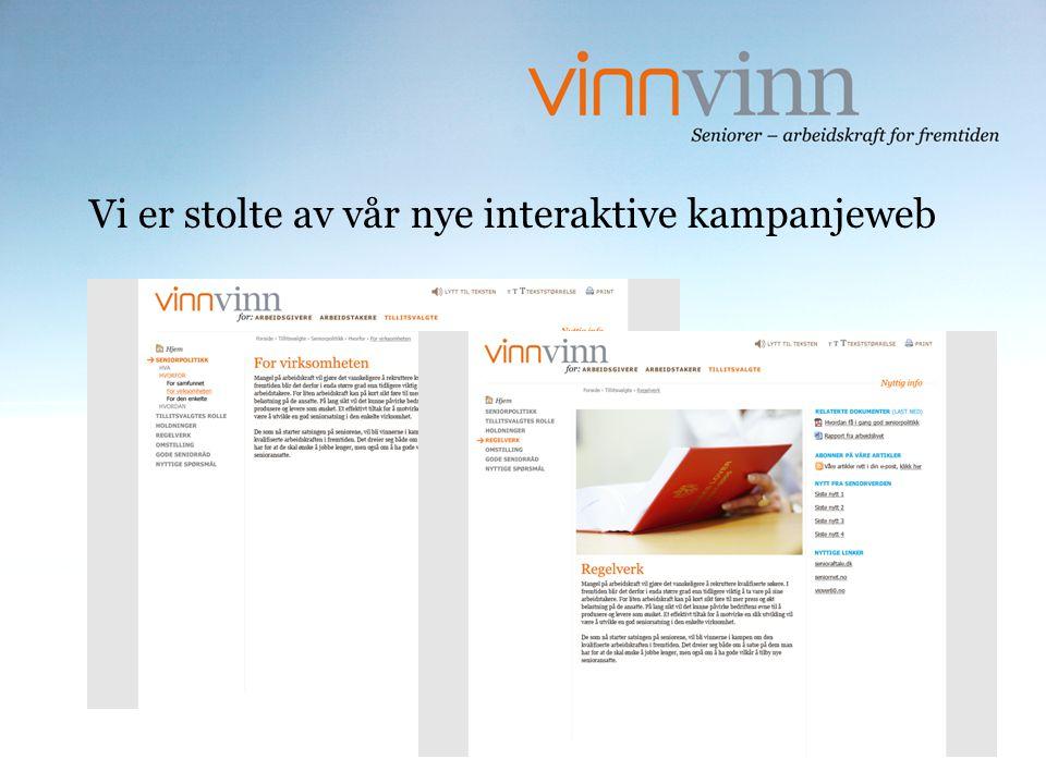 Vi er stolte av vår nye interaktive kampanjeweb