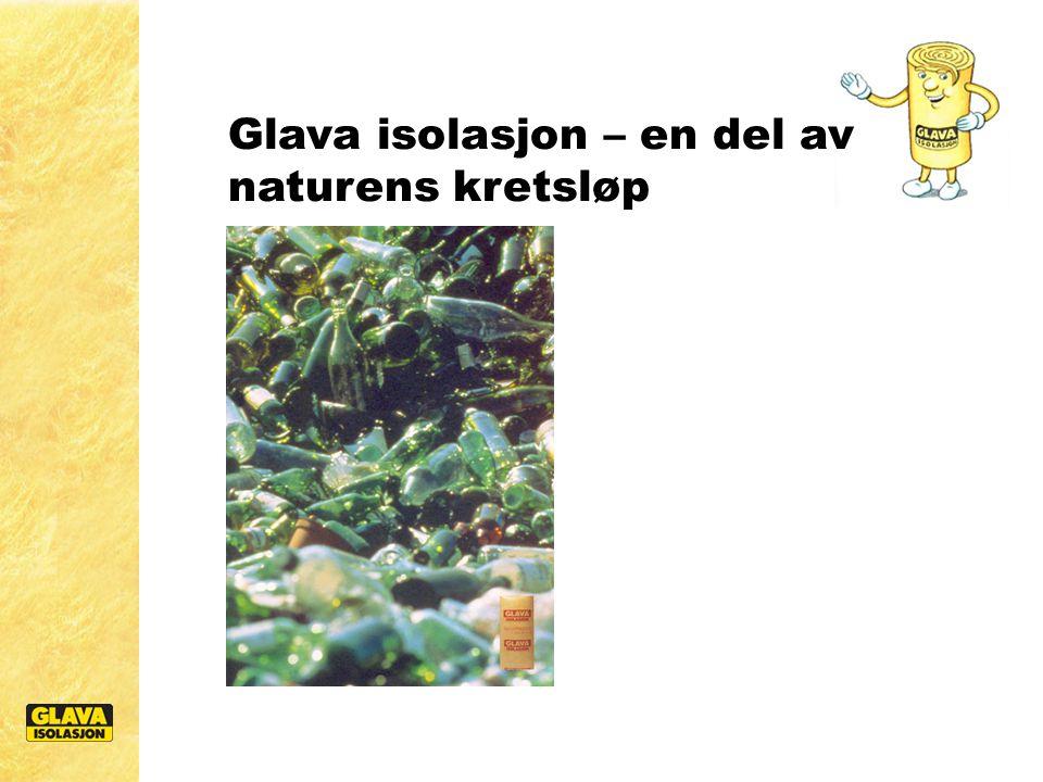 Glava kjører for et bedre miljø Vi komprimerer Glava isolasjon ned til 1/5 av bruksvolum ved pakking og reduserer utgiftene til transport, håndtering og lagring.