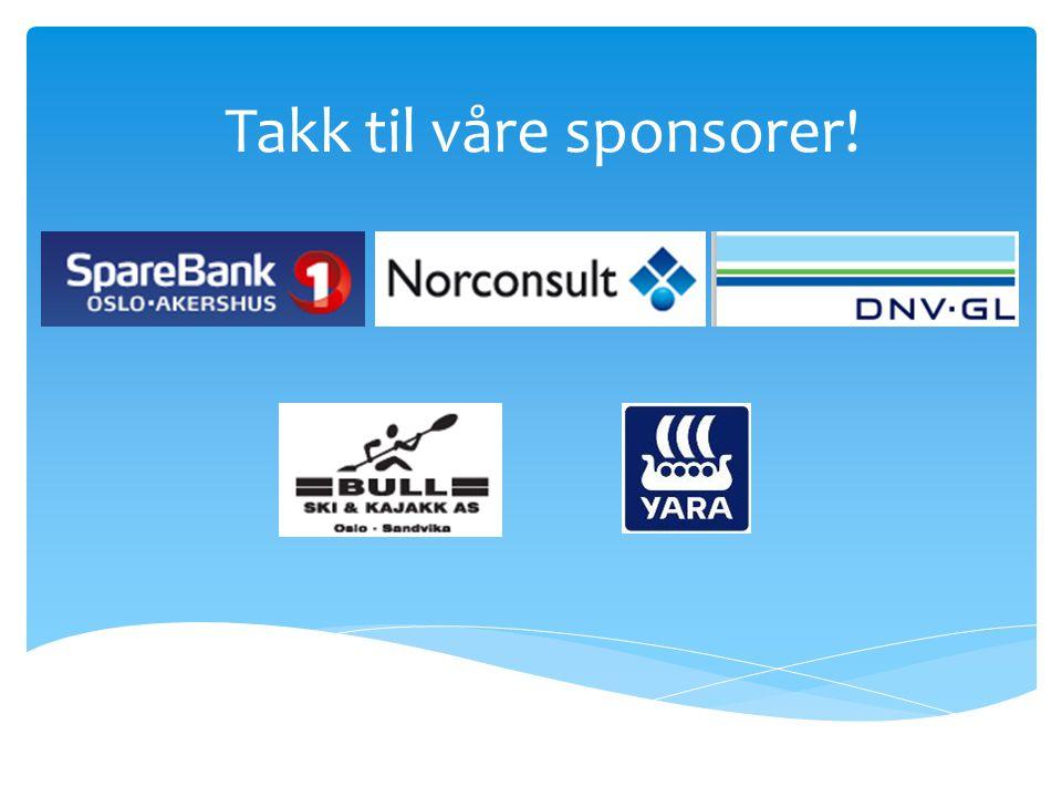 Takk til våre sponsorer!