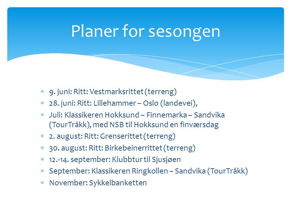  9. juni: Ritt: Vestmarksrittet (terreng)  28.