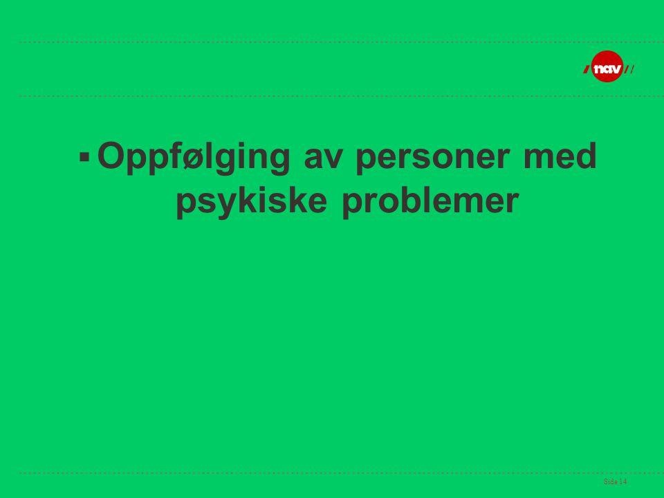 Side 14  Oppfølging av personer med psykiske problemer