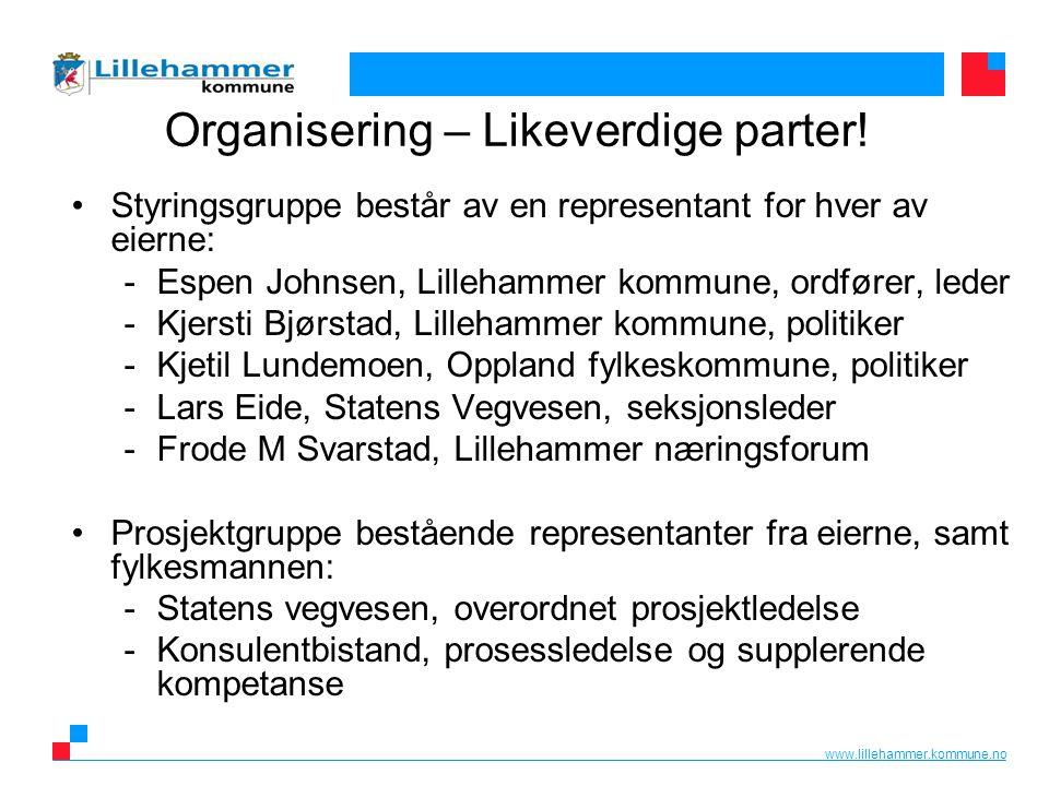 www.lillehammer.kommune.no Organisering – Likeverdige parter.