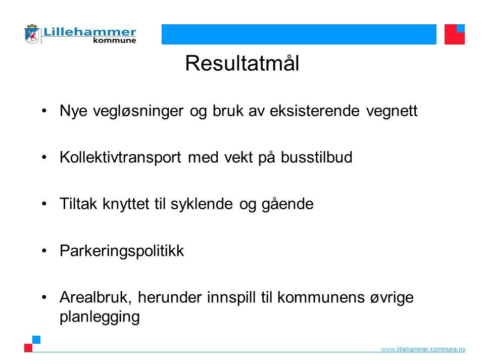 www.lillehammer.kommune.no De lokale transportløsningene må henge sammen med det øvrige transportnettet.