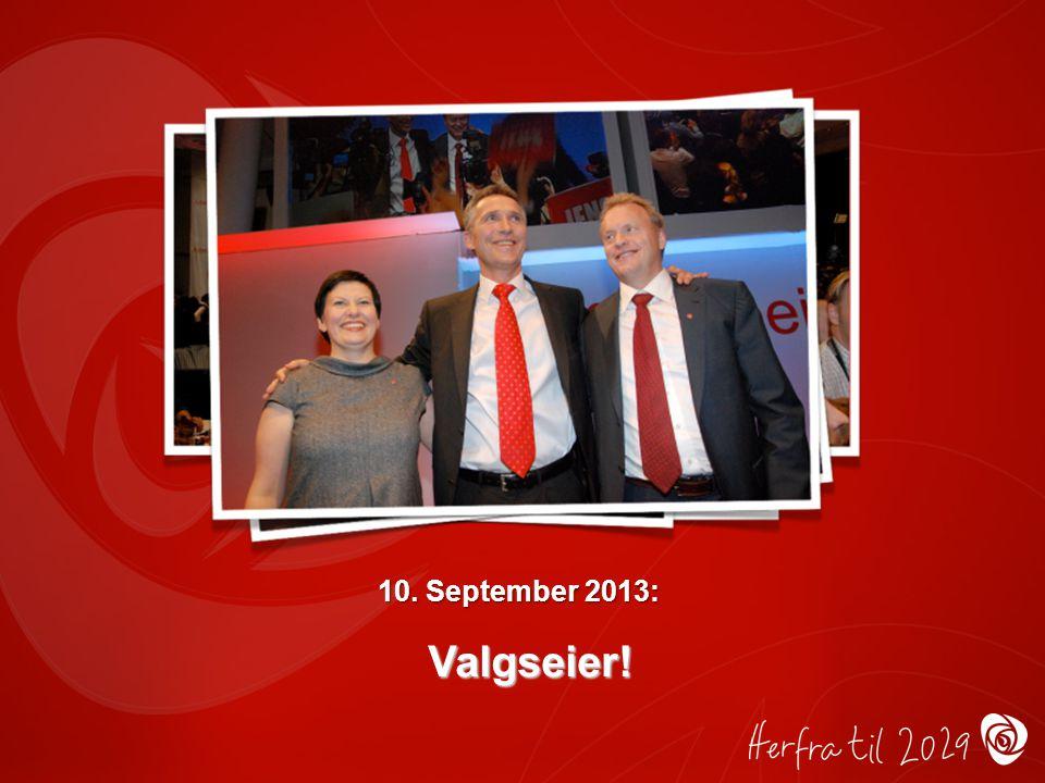 10. September 2013: Valgseier!