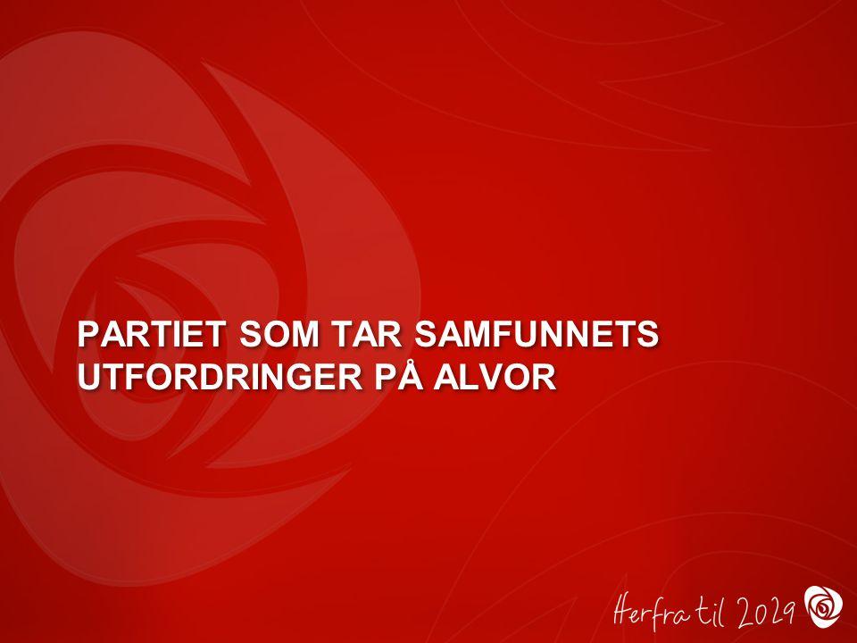 PARTIET SOM TAR SAMFUNNETS UTFORDRINGER PÅ ALVOR
