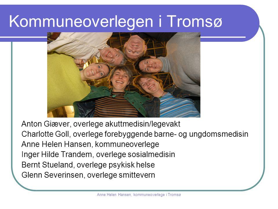 Kommuneoverlegen i Tromsø Anton Giæver, overlege akuttmedisin/legevakt Charlotte Goll, overlege forebyggende barne- og ungdomsmedisin Anne Helen Hanse