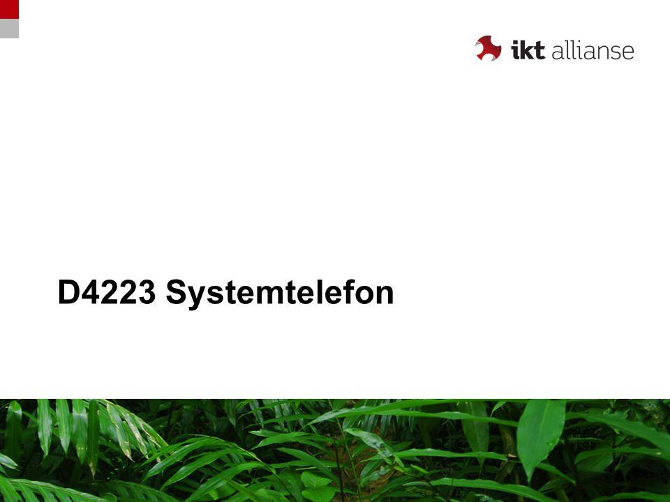 D4223 Linjetaster Overføre (ved hodesett) Viderekoble Meny Bla funksjon / Meny Høyttaler Mikrofon av/på (Mute) Hodesett-knapp Justering volum Avslutt samtale (ved hodesett) Multifunksjonstaster